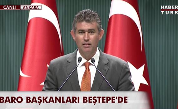 Feyzio�lu, Cumhurba�kan� ziyaretinde yapt��� konu�ma